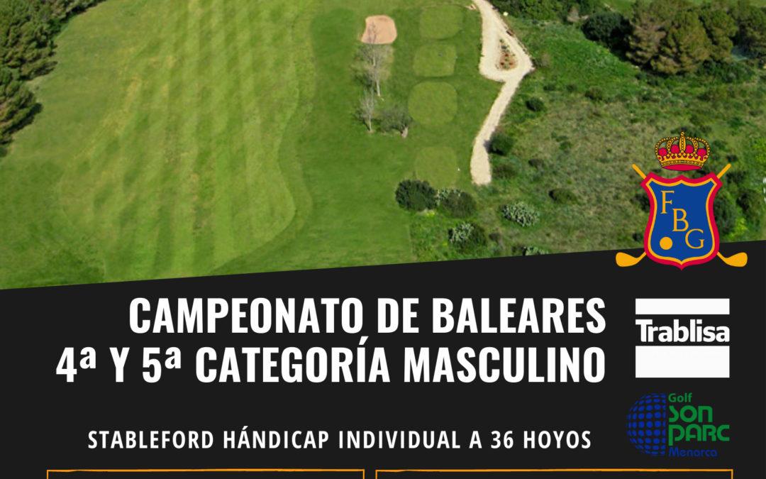 CAMPEONATO DE BALEARES 4ª Y 5ª CATEGORIA – FBG